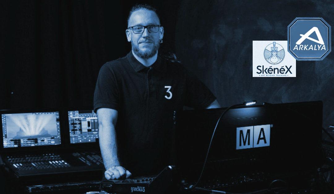 grandMA3: Arkalya collabore avec Skénéx
